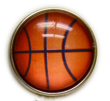 Basketball Mini Snap - Gracie Roze Yourself Expression Snap Jewelry