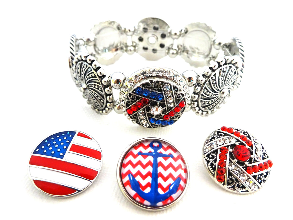 Red, White, Blue, and Bling Claire Snap Set