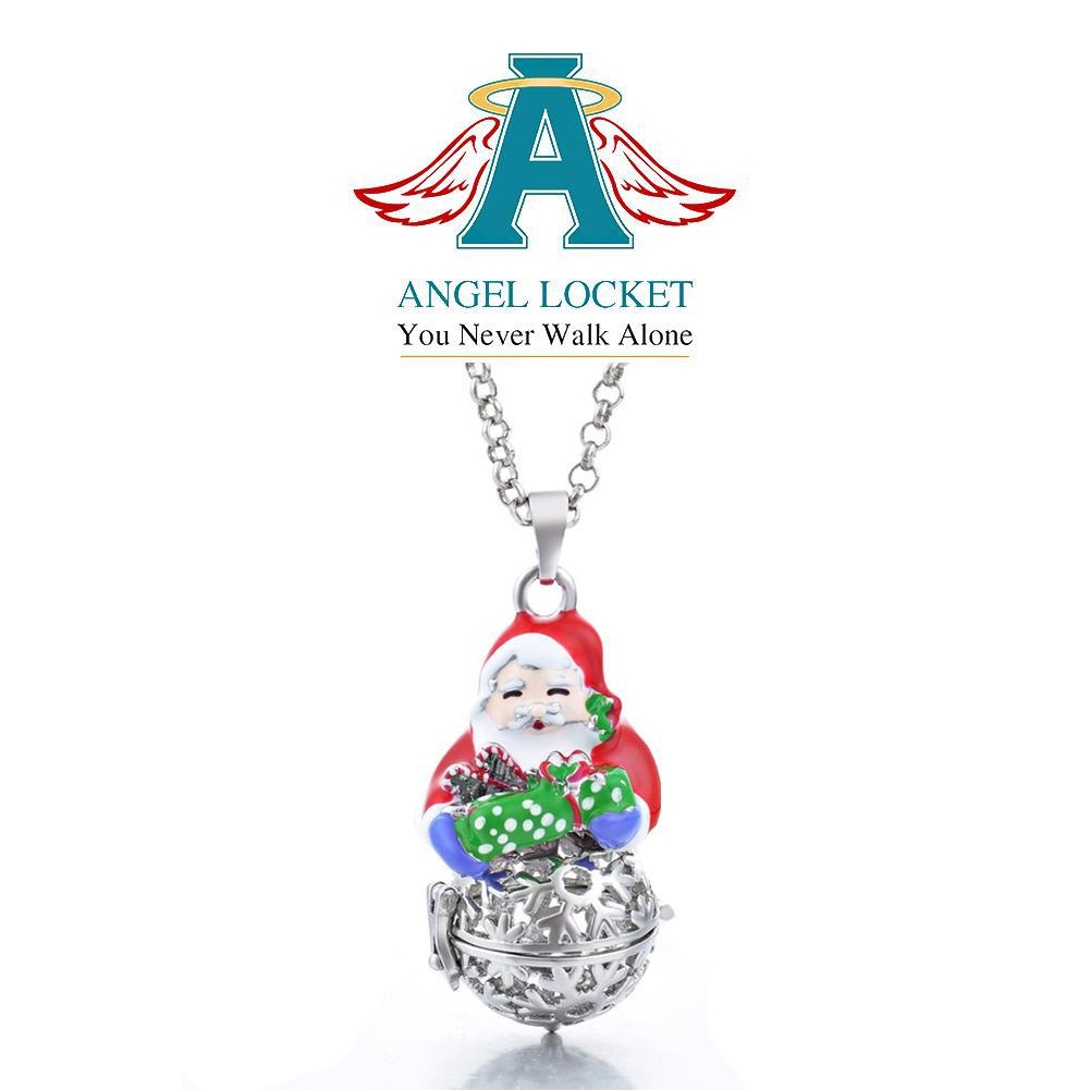Santa Angel Locket - Gracie Roze Yourself Expression Snap Jewelry