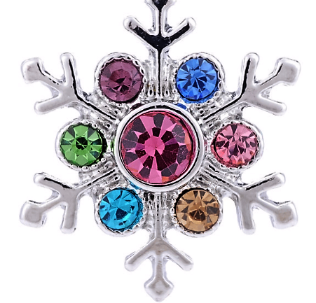 Multi Colored Crystal Snowflake Popper
