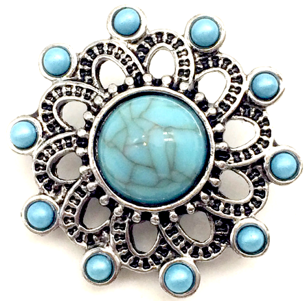 Turquoise Stone Flower Snap