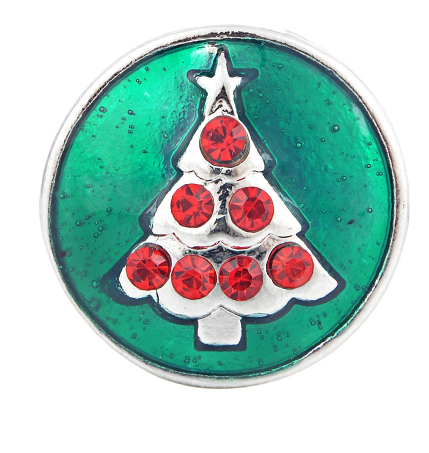 Oh Christmas Tree Metal Popper for Snap Jewelry