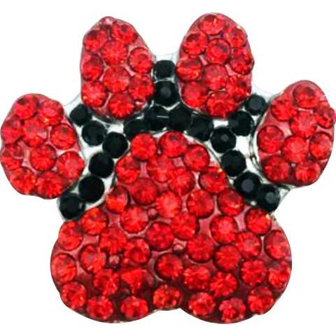 Paw Red and Black Crystal Snap