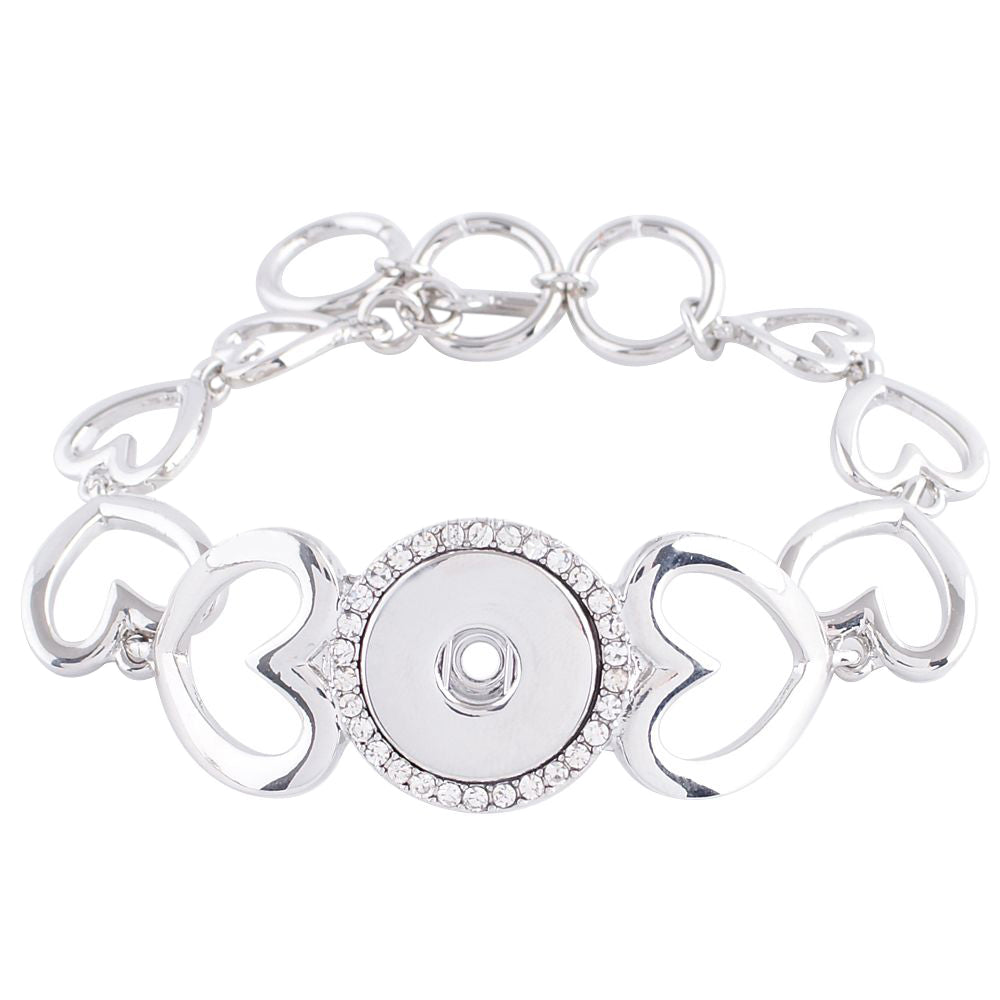 Heart Chain Toggle Bracelet - Gracie Roze
