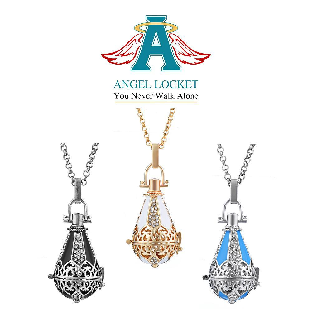 Lace Teardrop Angel Locket - Gracie Roze Yourself Expression Snap Jewelry