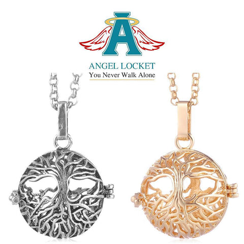 Family Tree Angel Locket