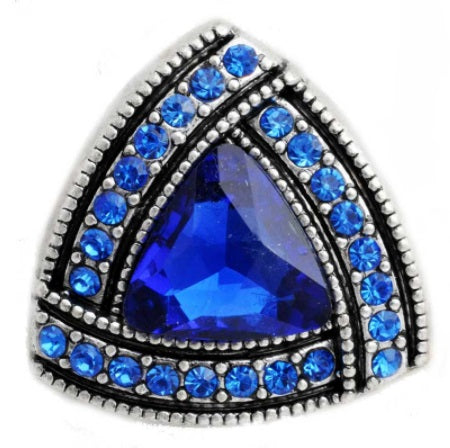 Tri Crystal Royal Blue Snap
