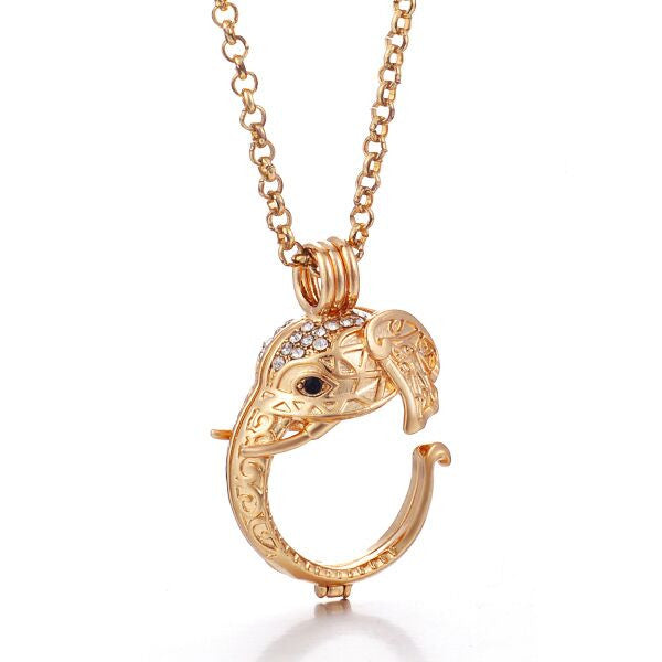 Angel Locket Gold Elephant Head (chimer not included)