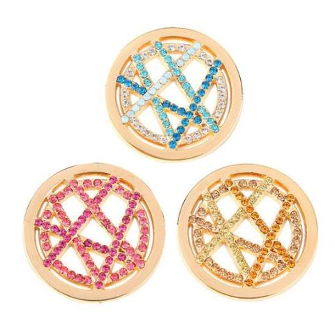 Gold Crossover Coin - Gracie Roze