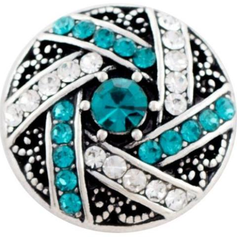 Teal and White Crystal Crossover snap