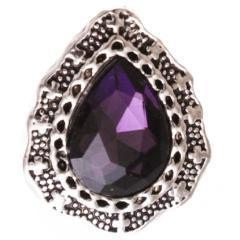 Vintage Purple Amethyst Snap