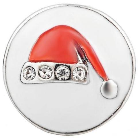 Metal Santa Hat Snap: 3 Colors - Gracie Roze Yourself Expression Snap Jewelry