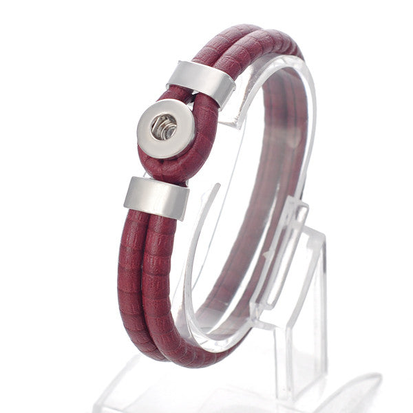 One Snap Garnet Mini Bracelet - Gracie Roze