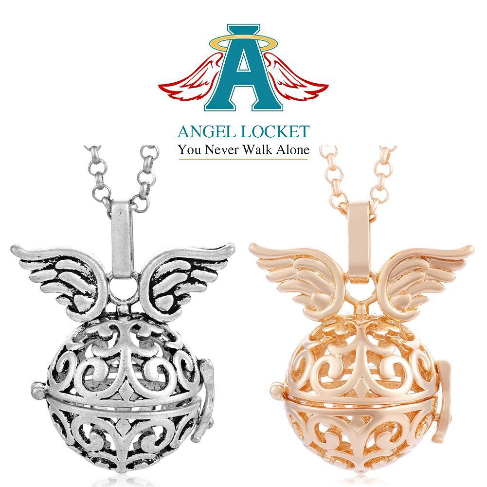 Wings on Top Angel Locket - Gracie Roze Yourself Expression Snap Jewelry
