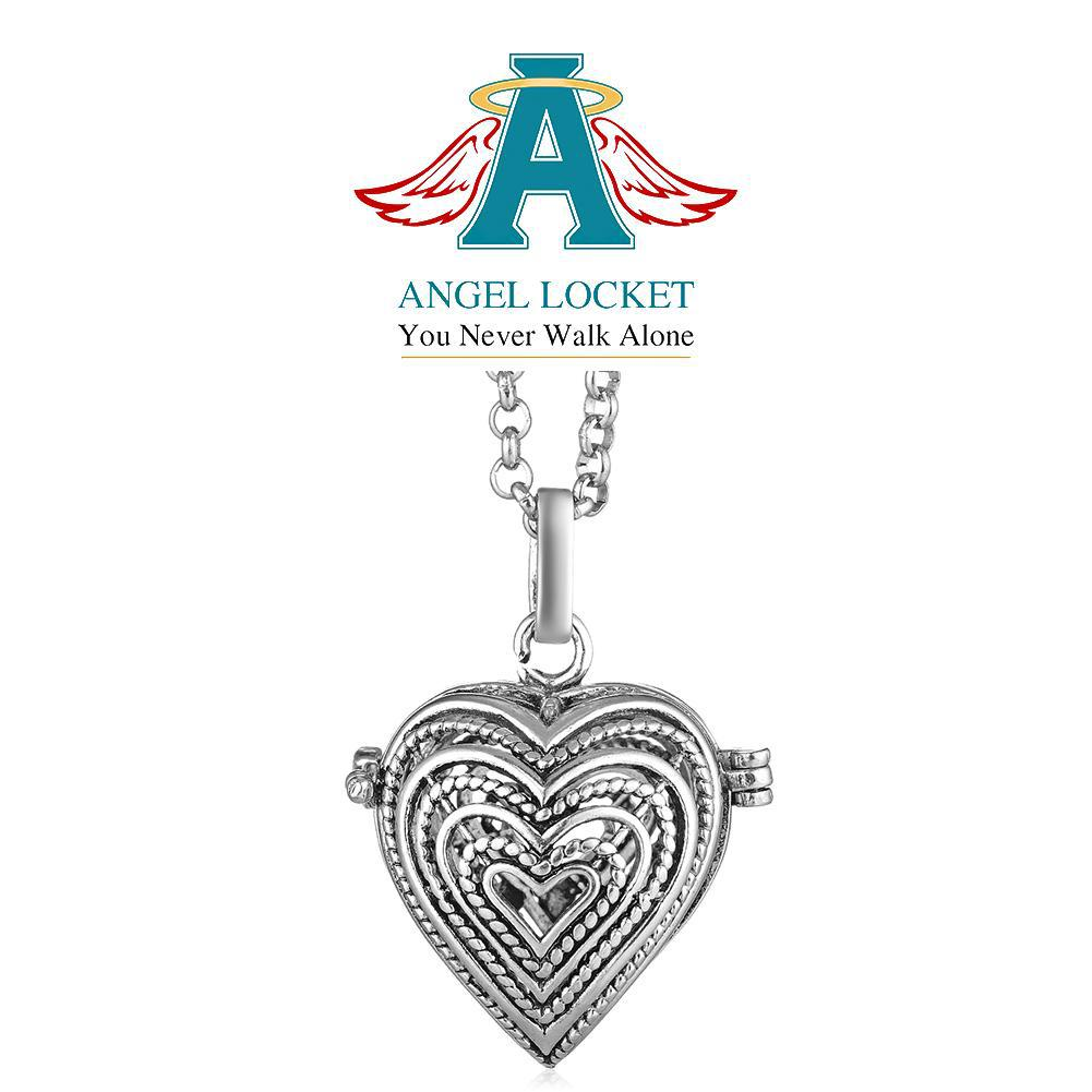 Woven Heart Angel Locket - Gracie Roze Yourself Expression Snap Jewelry