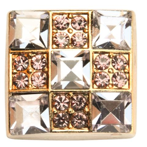 Gold Purple Crystal Square Snap