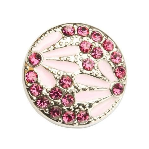 Pink Crystal Daisy Snap - Gracie Roze Yourself Expression Snap Jewelry