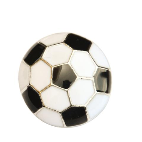 Metal Soccer Ball Snap - Gracie Roze Yourself Expression Snap Jewelry