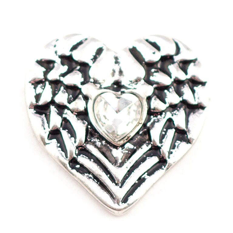 Angel Wing Heart Snap - Gracie Roze Yourself Expression Snap Jewelry