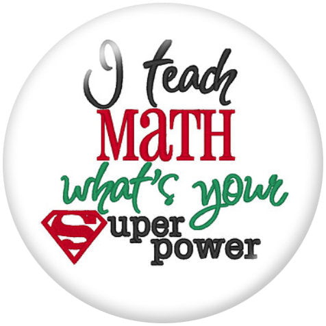 Teach Math Glass Snap - Gracie Roze