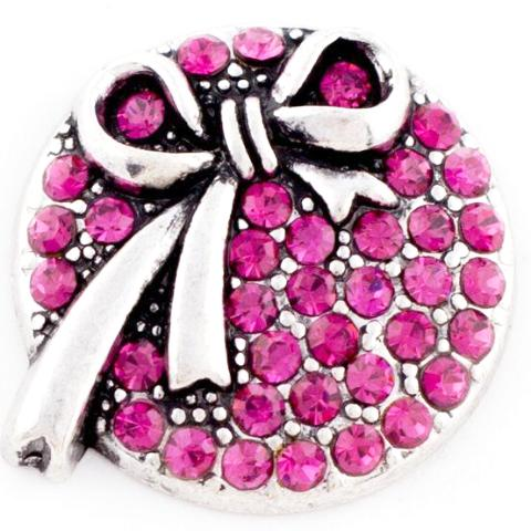 Hot Pink Crystal Bow snap