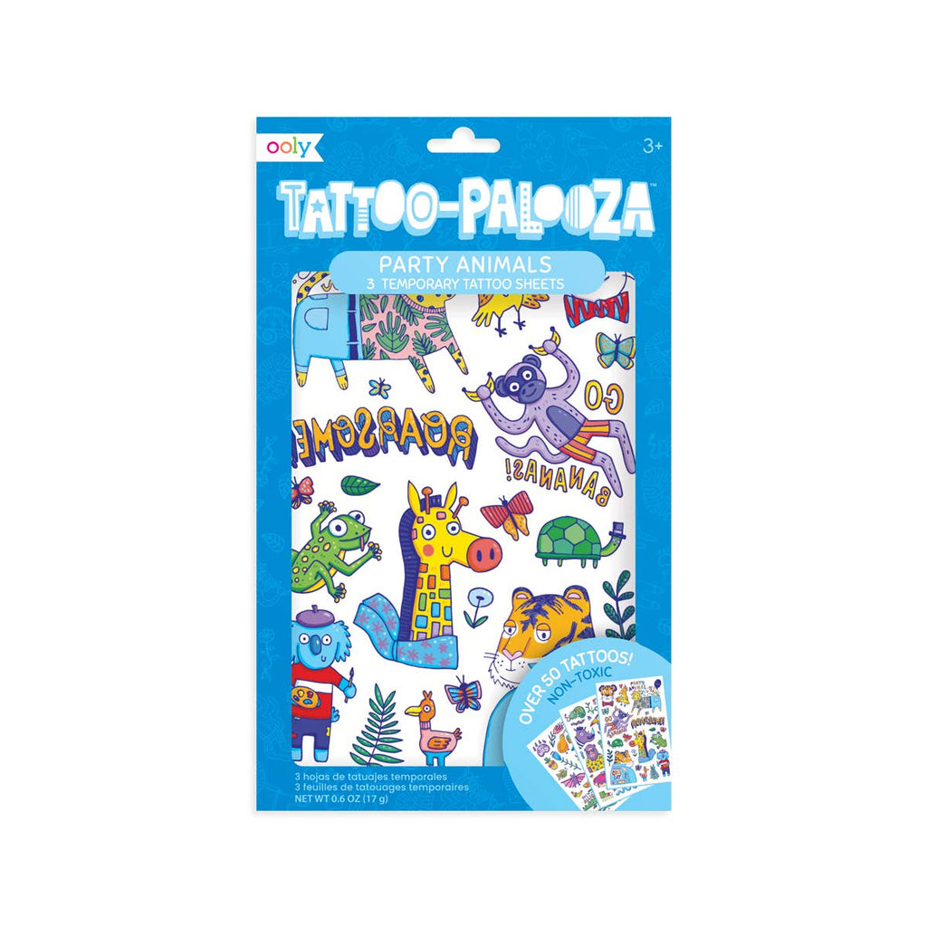 Party Animals Temporary Tattoos - Gracie Roze
