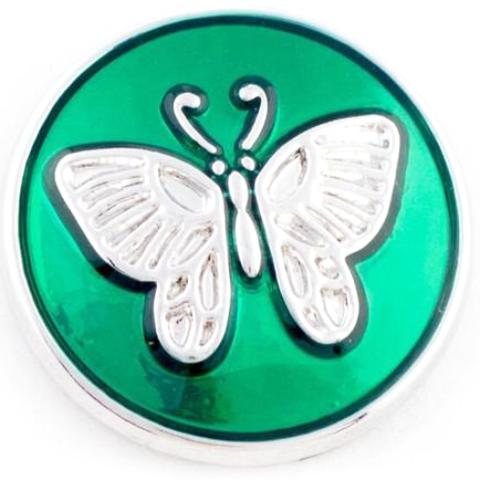 Green Metal Butterfly snap