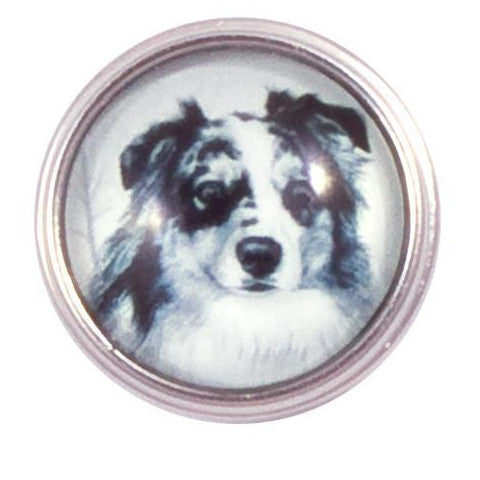 Australian Shepard Snap - Gracie Roze Yourself Expression Snap Jewelry