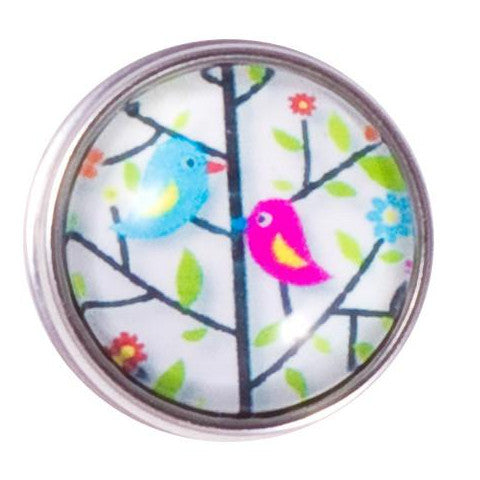 Pink and Blue Love Birds Popper