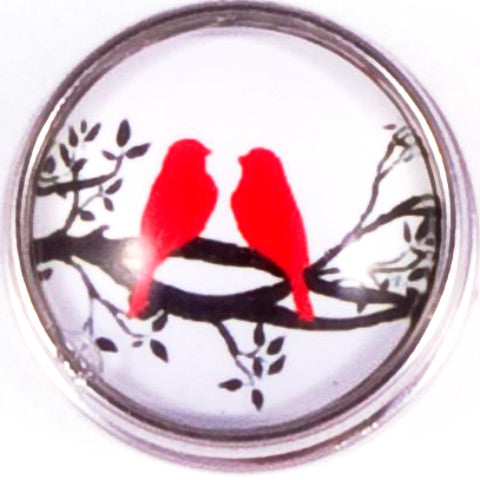 Red Love Birds Snap - Gracie Roze