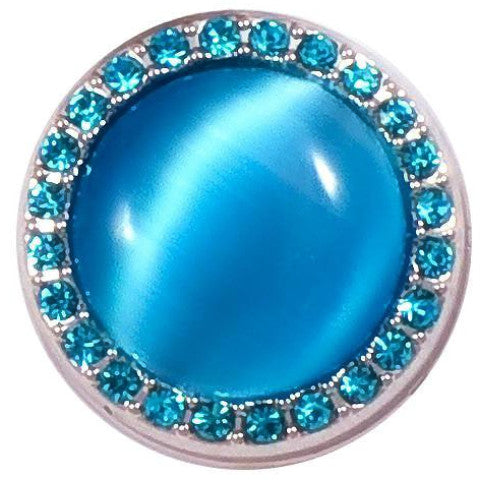 Aqua Crystal Moonstone Snap - Gracie Roze Yourself Expression Snap Jewelry