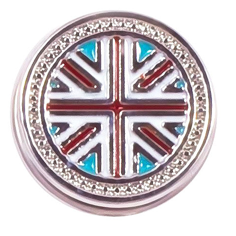 British Flag Metal Snap - Gracie Roze Yourself Expression Snap Jewelry