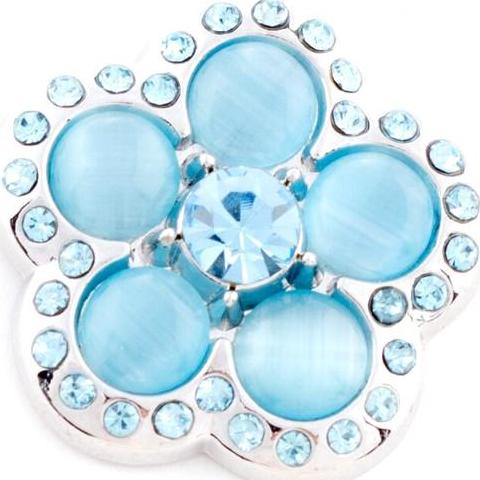 Groovy Light Blue Flower Popper