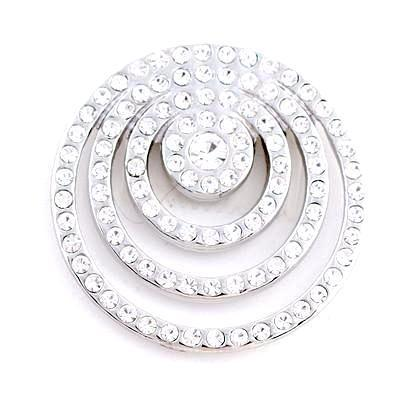 White Crystal Circles Coin - Gracie Roze