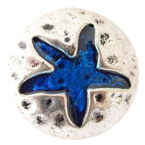 Starfish Blue Metal Snap