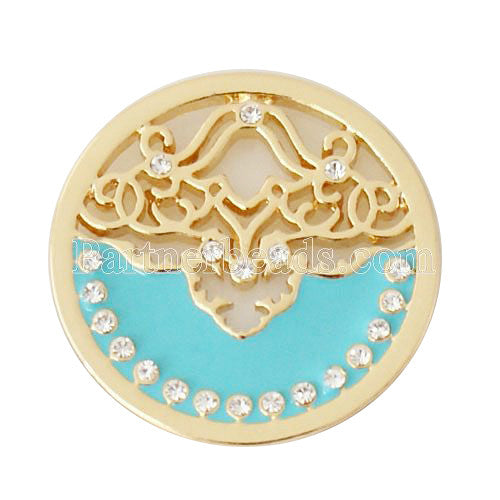 Blue and Gold Ornate Design Coin for Coin Shel