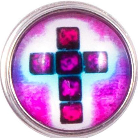 Pink Square Cross snap