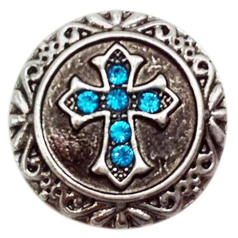 Blue Crystal Cross Snap