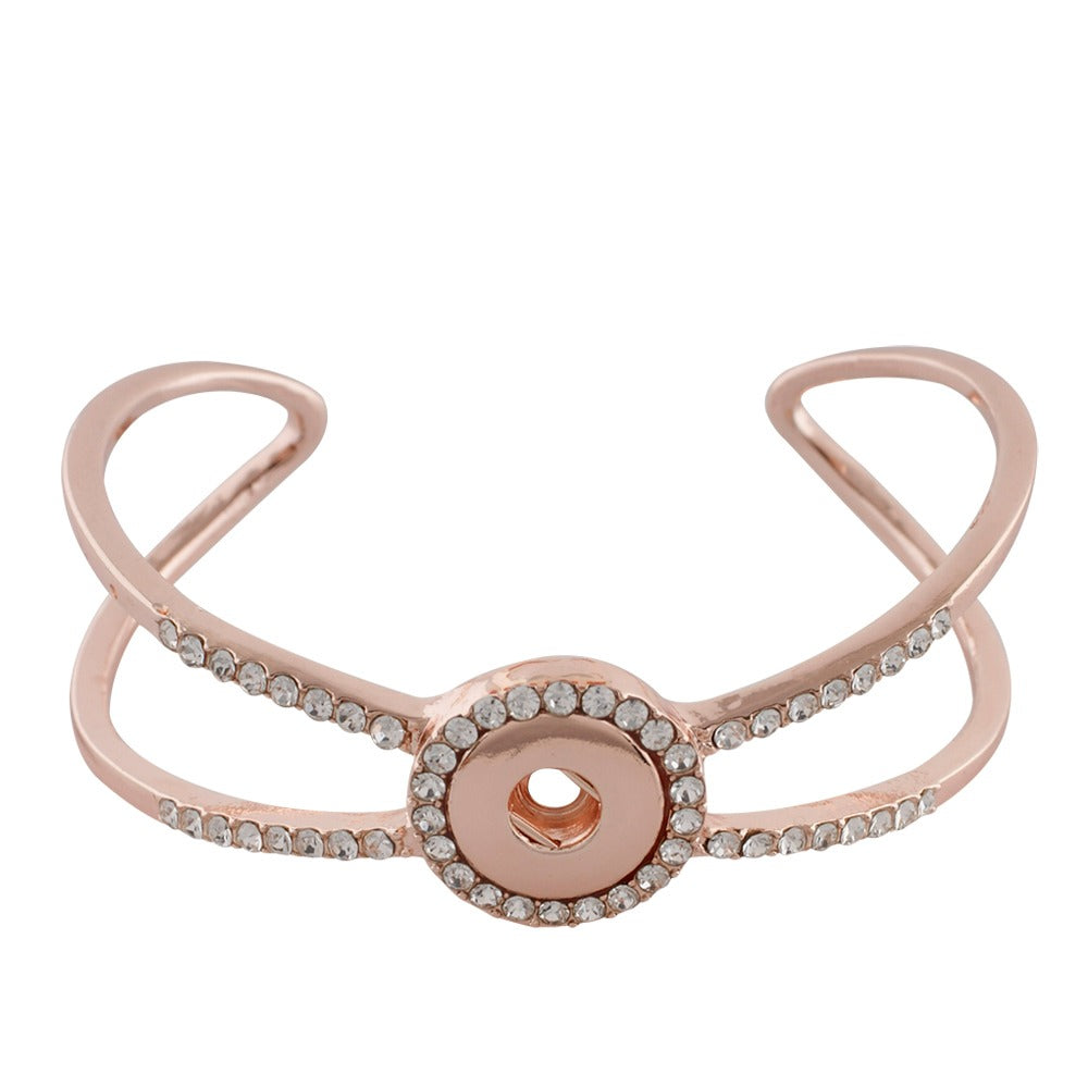 Crystal Wing Rose Gold Mini Cuff - Gracie Roze