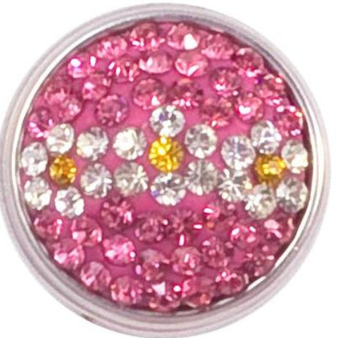 Pink Crystals with Daisy Popper
