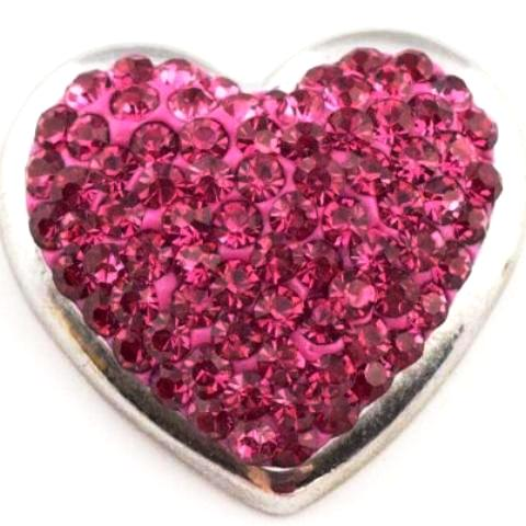 Pink Full Heart Snap