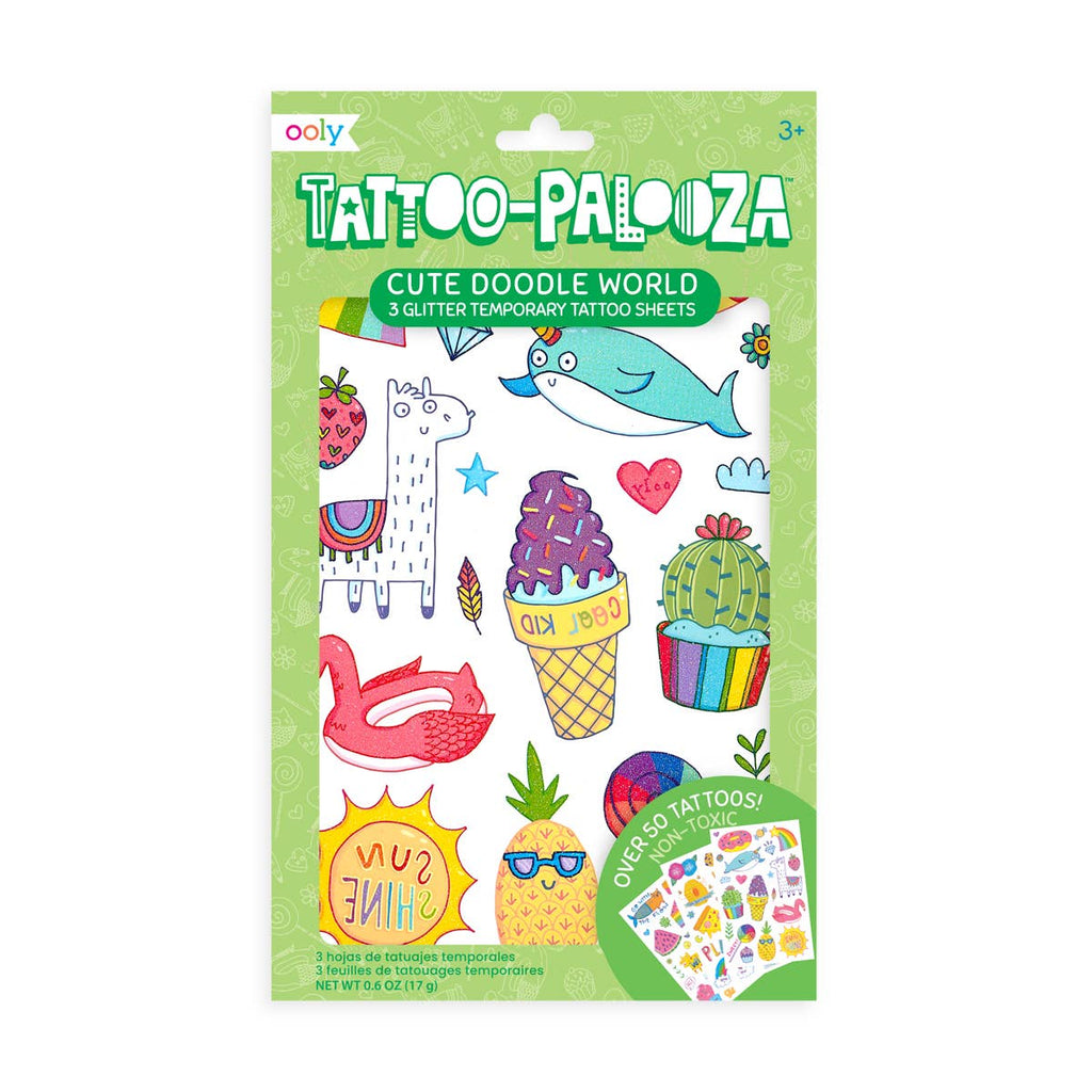 Cute Doodle World Temporary Tattoos - Gracie Roze