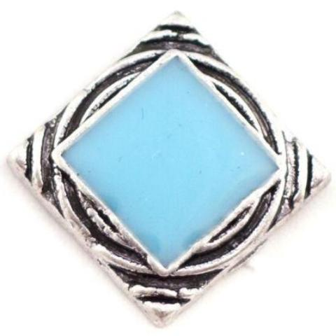 Baby Blue Square Mini Snap - Gracie Roze Yourself Expression Snap Jewelry