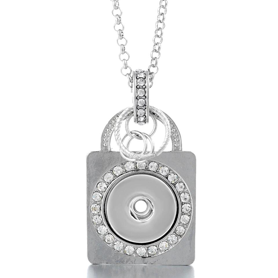 Lock of Love Snap Necklace - Gracie Roze