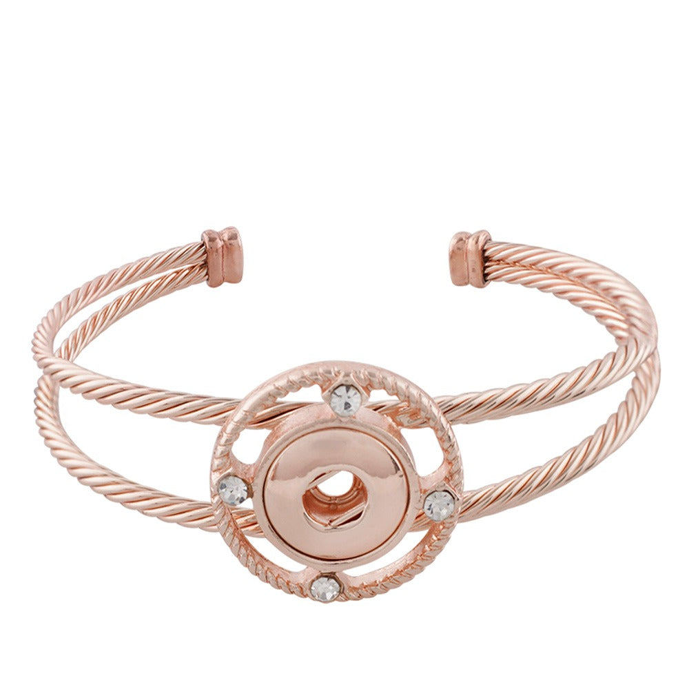 Rose Gold Compass Cuff Mini Bracelet - Gracie Roze