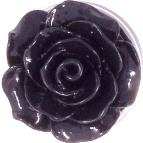Black Resin Flower Popper