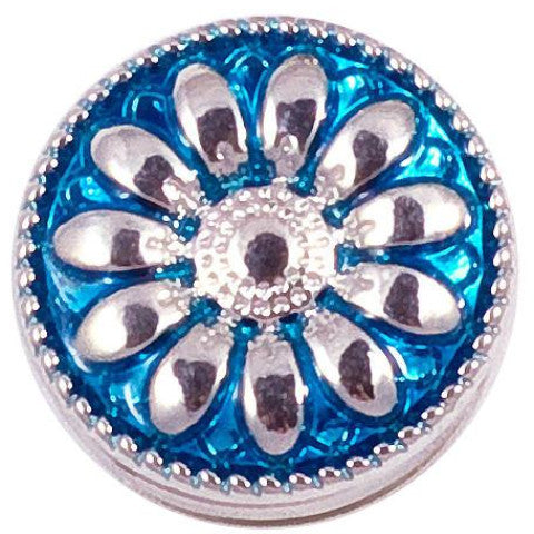 Metalic Blue and Silver Flower Popper