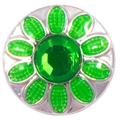 Green and Silver Petal Metal Popper