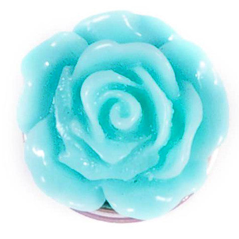 Teal Resin Flower Popper