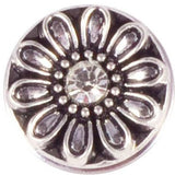 Metal Daisy with White Crystal Popper